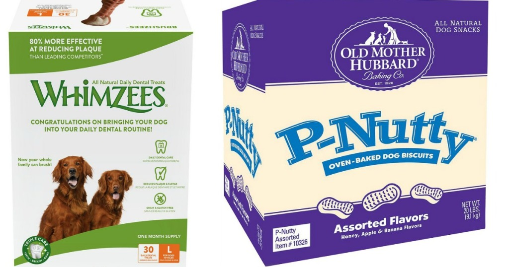 whimzees dog treats and old mother hubbard dog treats