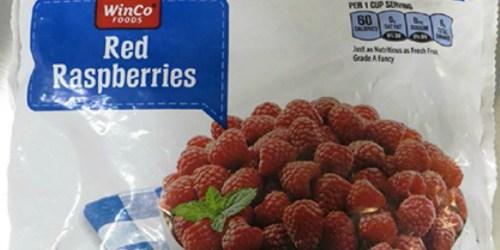 WinCo Frozen Red Raspberries Recalled Due to Norovirus Contamination