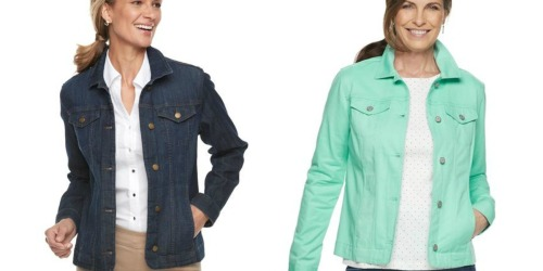 Croft & Barrow Women's Denim Jackets as Low as $17.49 Each Shipped for Kohl's Cardholders