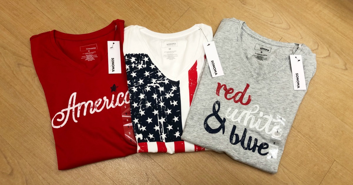 three women's 4th of july tees at Kohl's