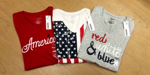 Women's 4th of July Tees as Low as $4 from Kohl's