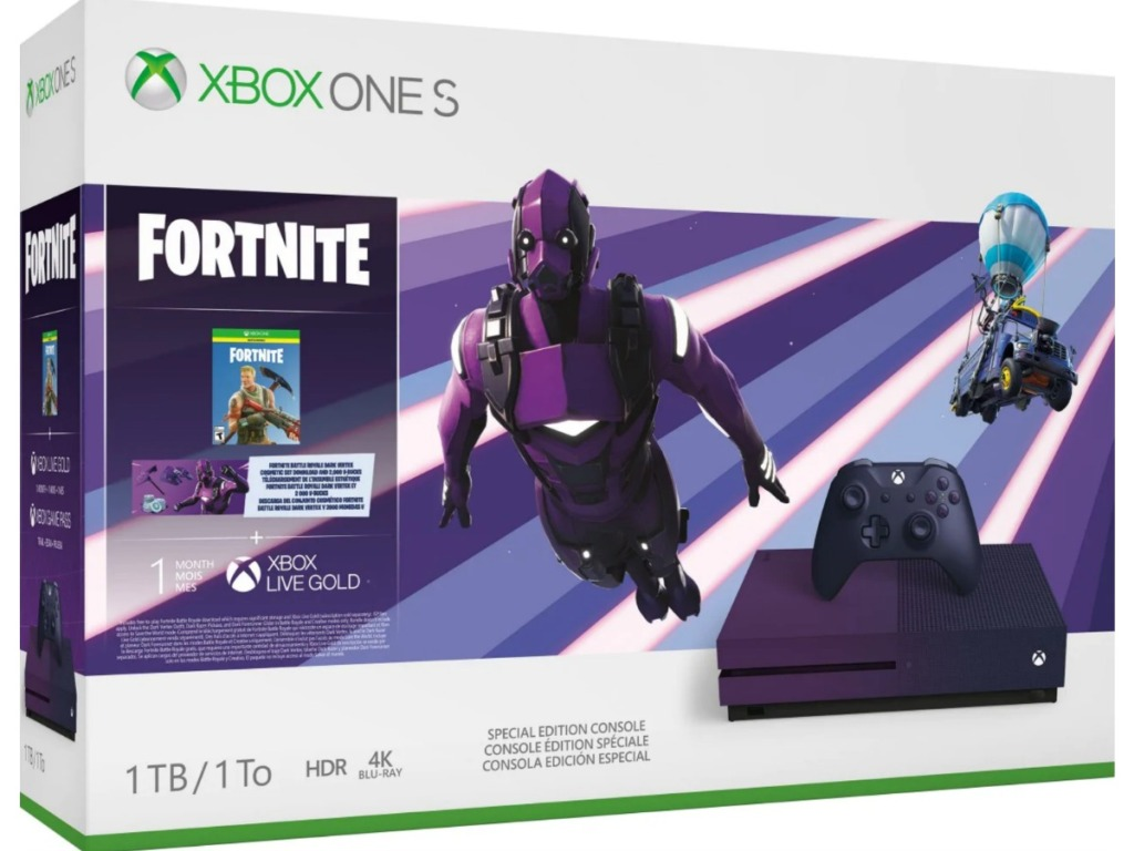 xbox one s fortnite bundle box