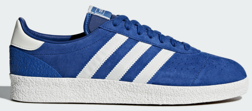 bright blue with white stripes adidas shoes