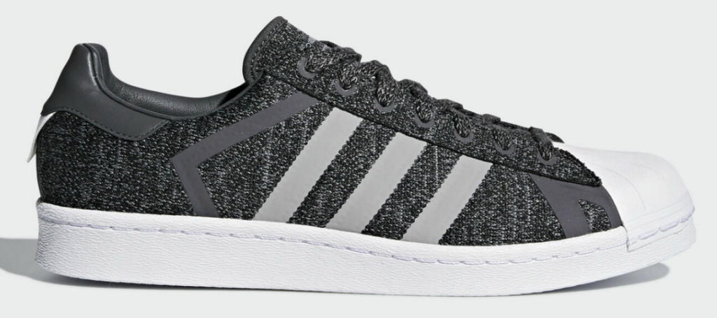 gray with white stripes men's adidas shoes