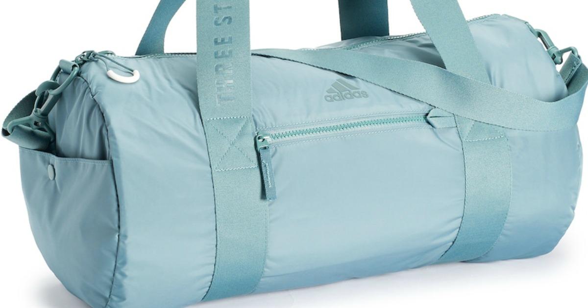 blue adidas duffel bag