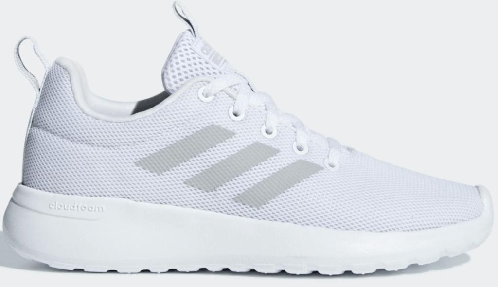 all white adidas kids Lite Racer CLN Shoes