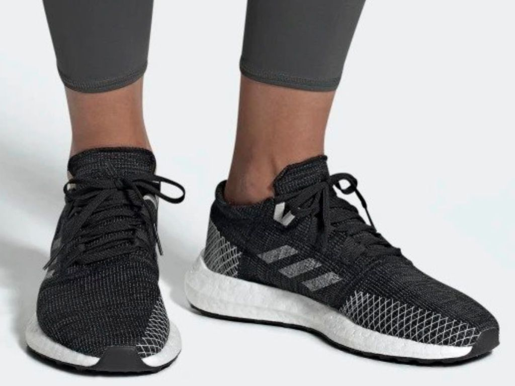 adiads Pureboost Go Shoes in black & grey for women