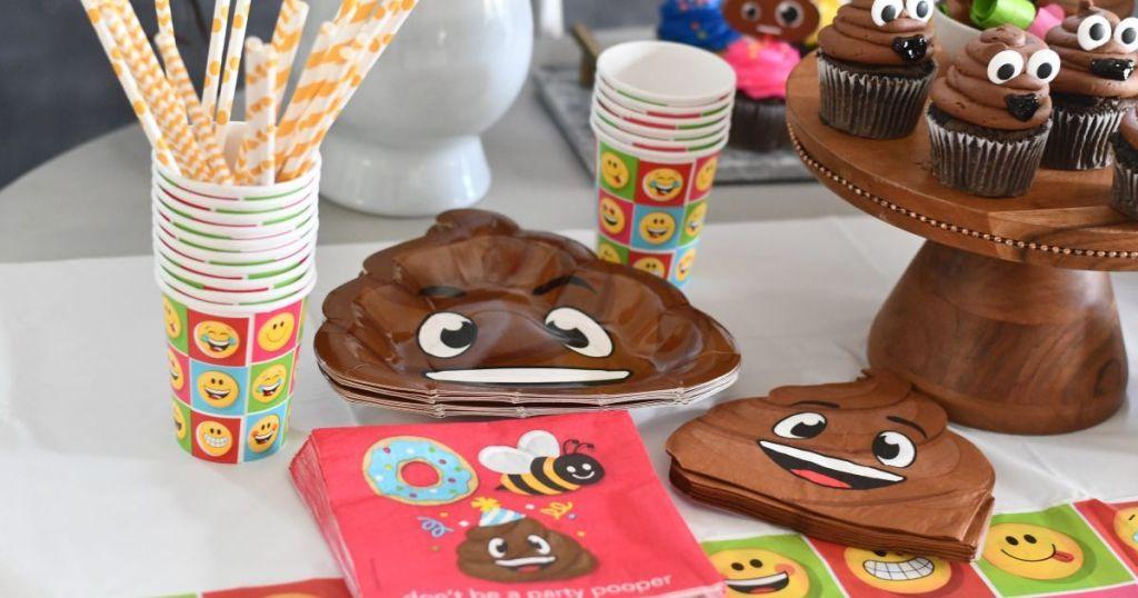 cute emoji poop party bundle from amazon