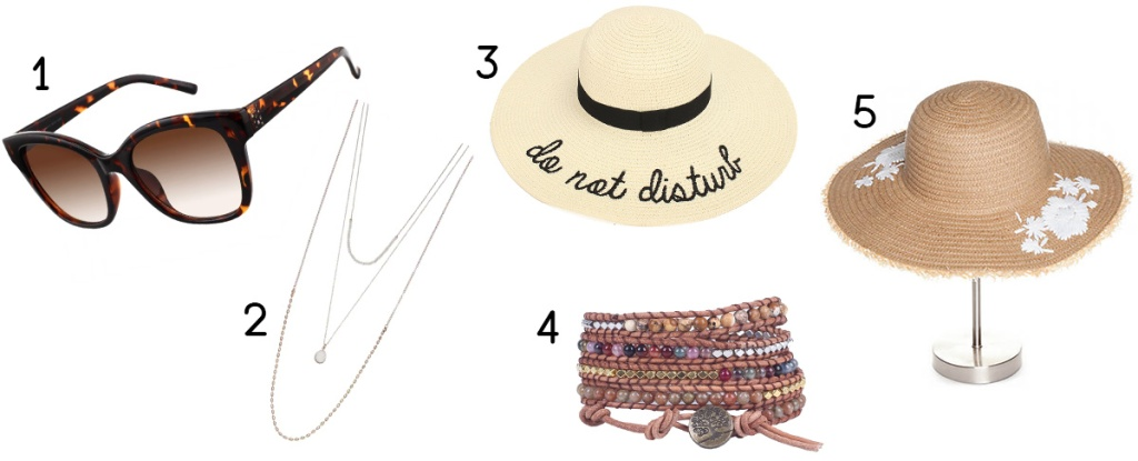 accessories worn with amazon coverups