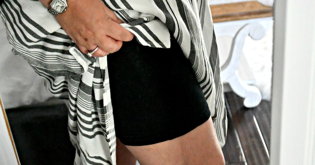 wearing amazon slip shorts under skirt