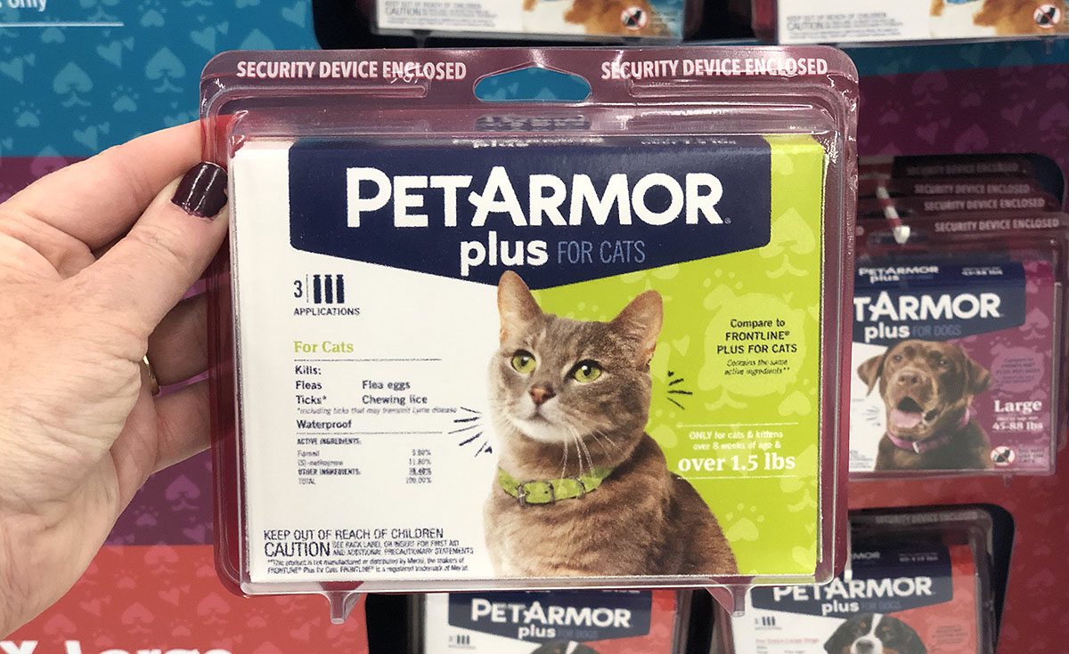 Woman' holding PetArmor Plus for Cats