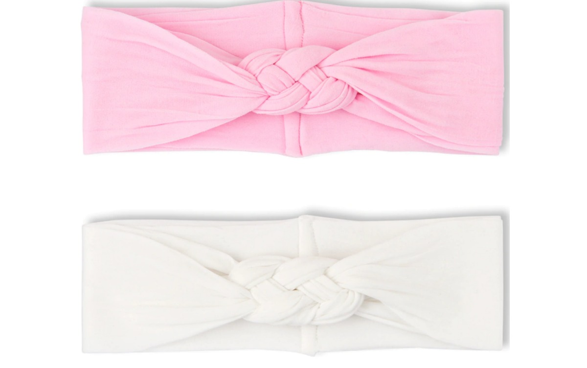 pink and white headbands