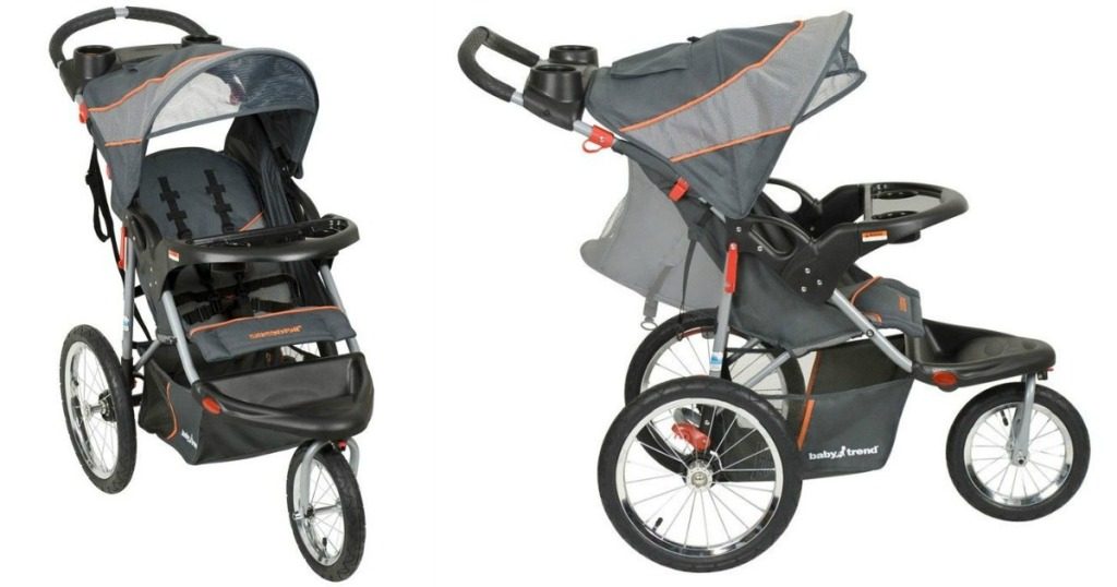 baby trend jogger stroller shown from the front and side
