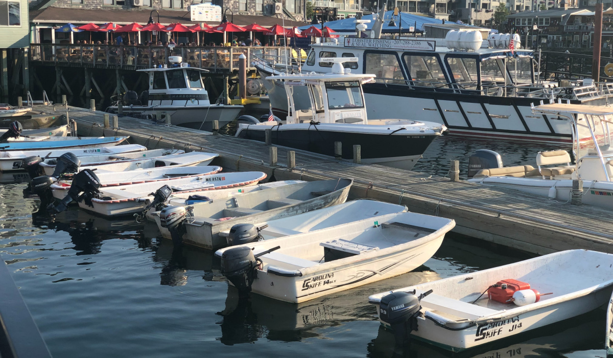 boats docking in bar harbor maine