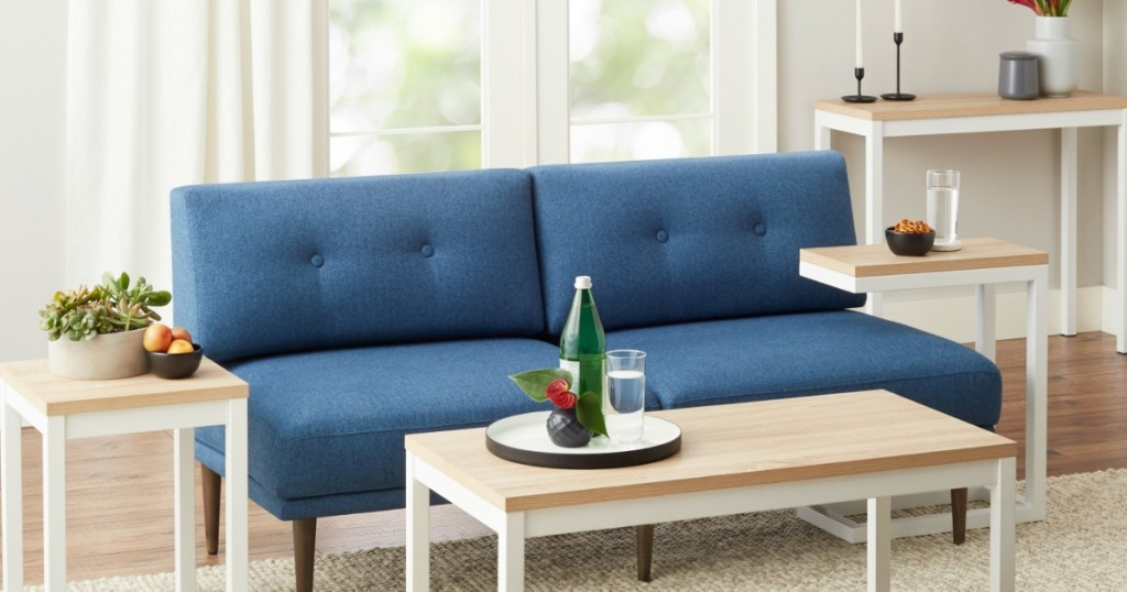 living room couch with small furniture around it