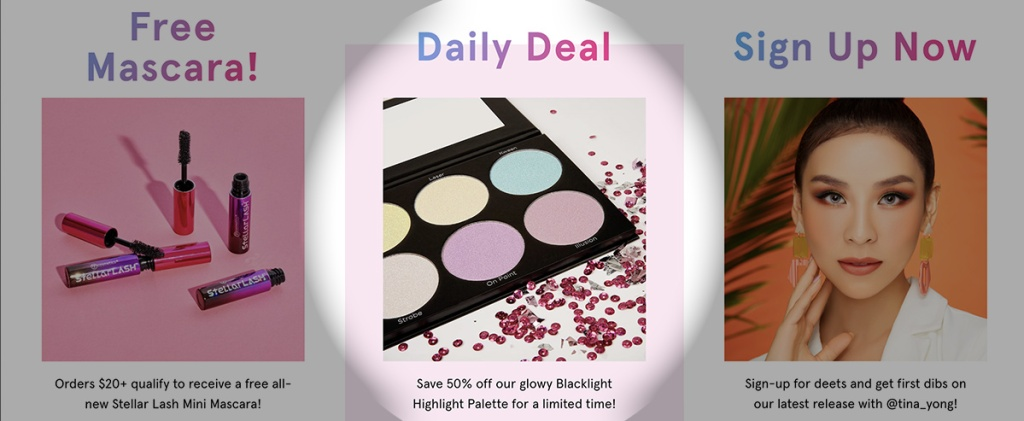 bh cosmetics website with daily deal