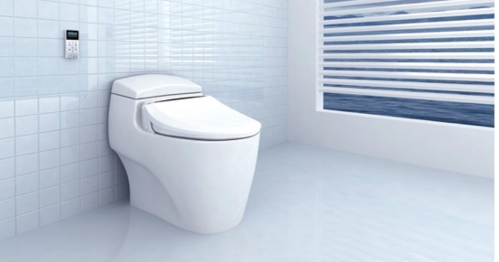BioBidet USPA 6800U Luxury Class Bidet Seat in bathroom
