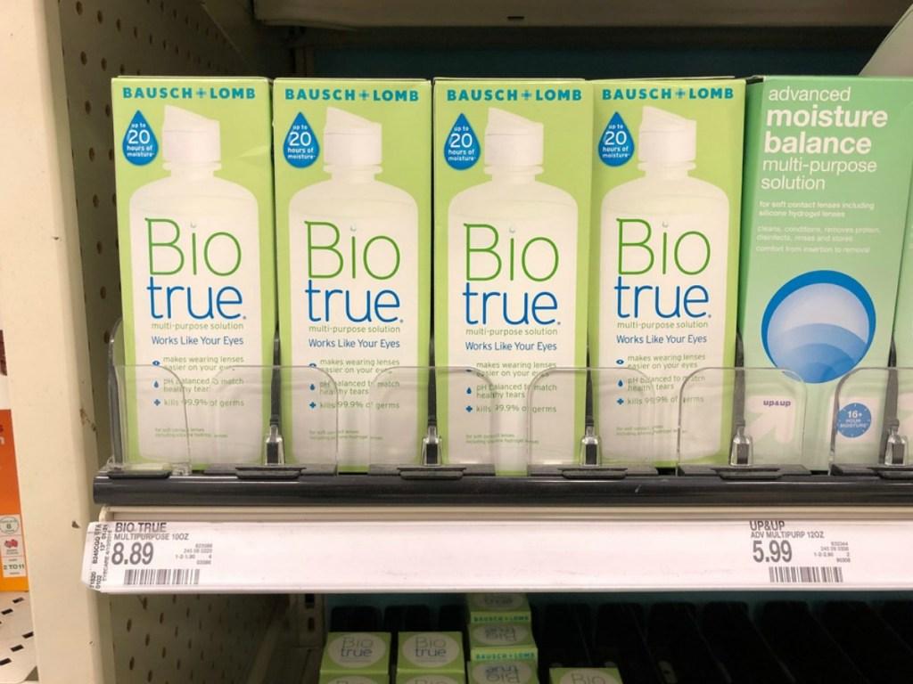 shelf full of biotrue