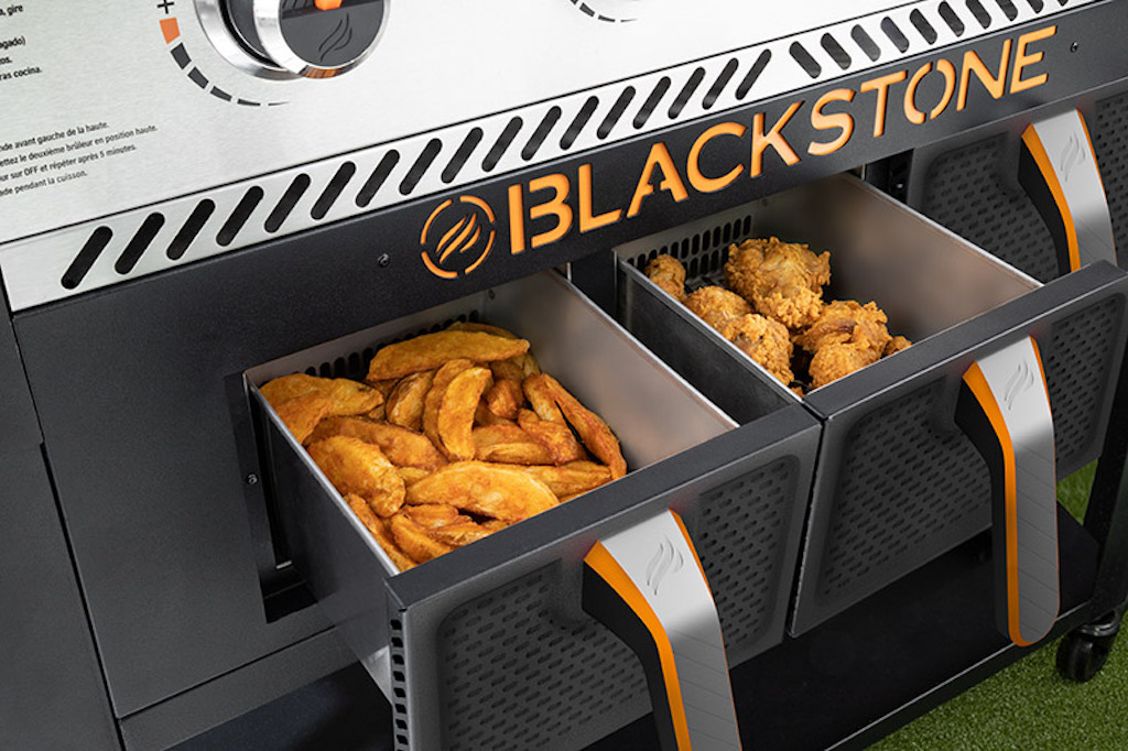 Blackstone Griddle with air fryer baskets
