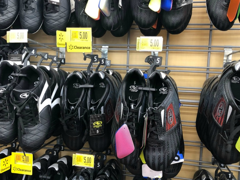 shoes display at store