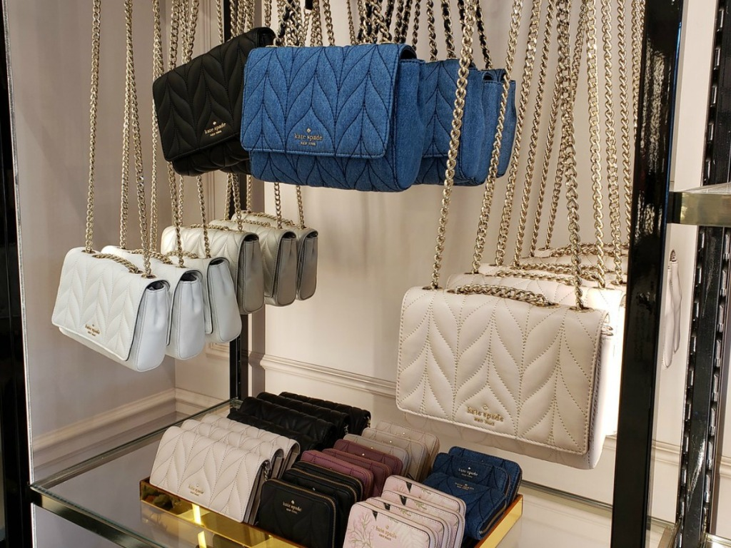 purses hanging in store display