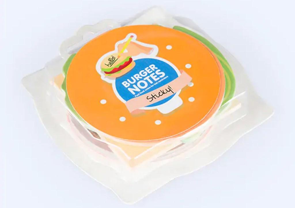 burger sticky note pad