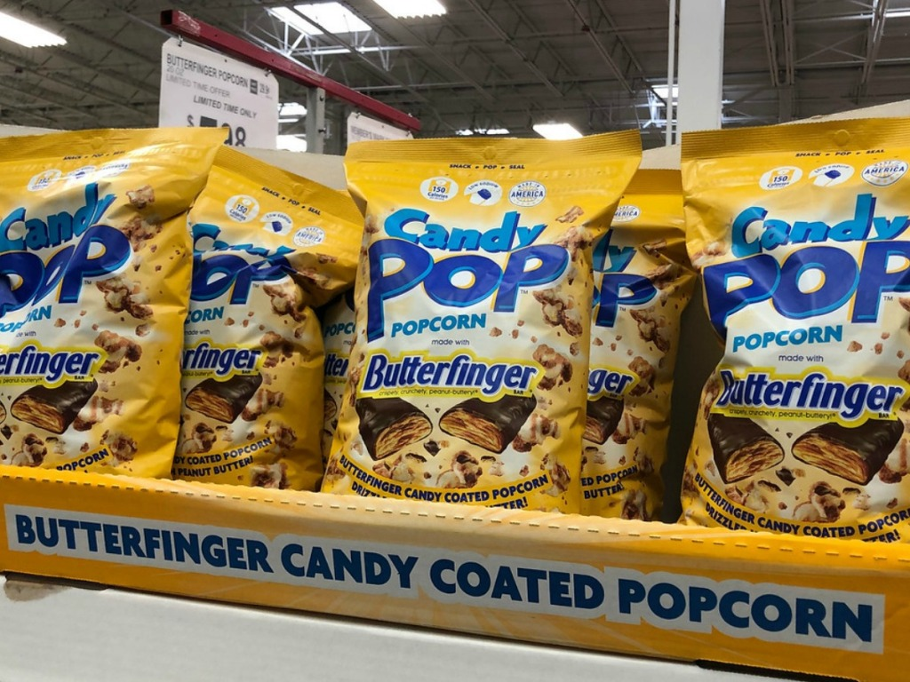 Pop corn with Butterfinger pieces in it