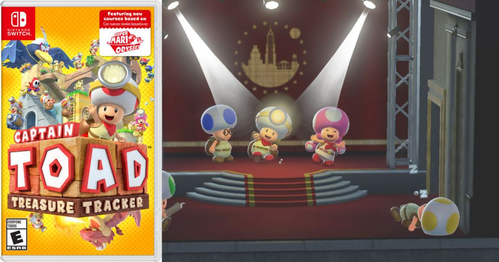 Captain Toad: Treasure Tracker game play with game cover