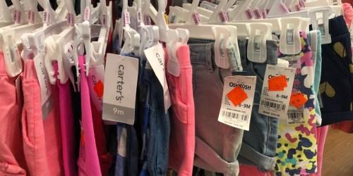 Carter's Tees, Shorts, Pants & More as Low as $2.39 (Baby, Toddler & Kids)