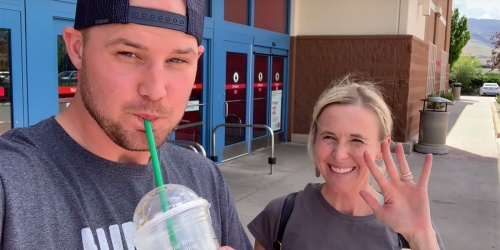 Stetson Slurps His 20% Off Starbucks Frapp While Collin Scores Target Deals [Shop With Us Video]
