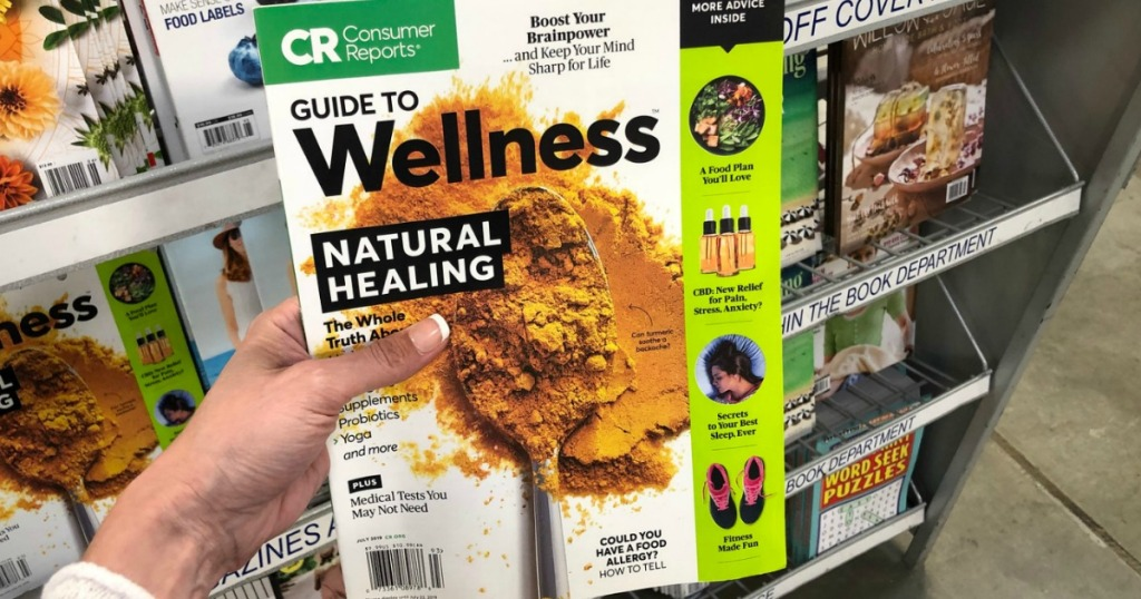consumer reports magazine featuring natural healing articles