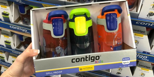 Contigo Kids Spill-Proof Water Bottles 3-Pack Only $12.98 at Sam's Club (Just $4.32 Each)