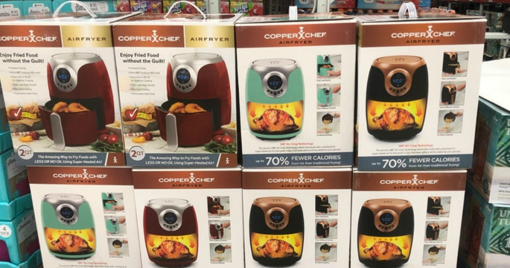 copper chef air fryer display in store