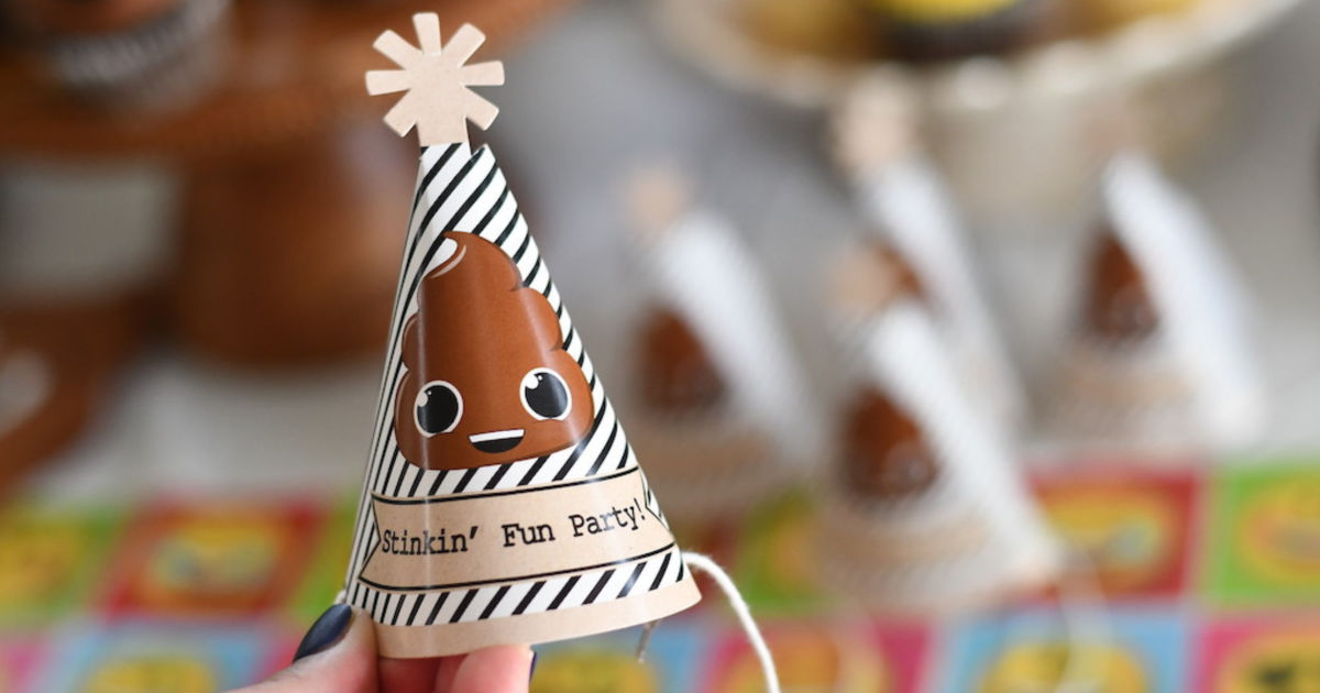 cute emoji poop party hats for your guest