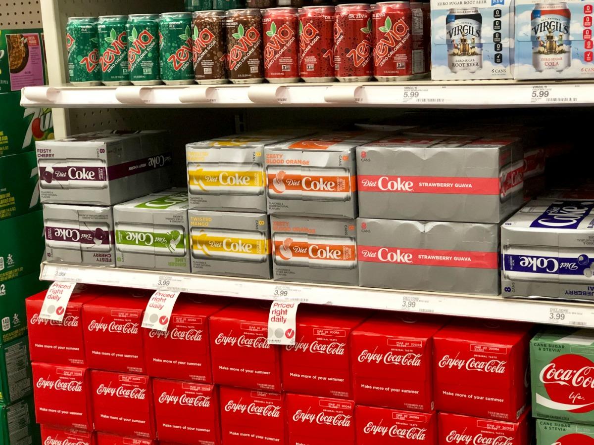 diet coke packs on store shelves