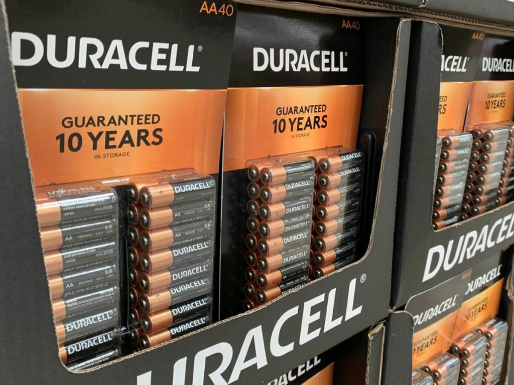 large package of batteries in store display