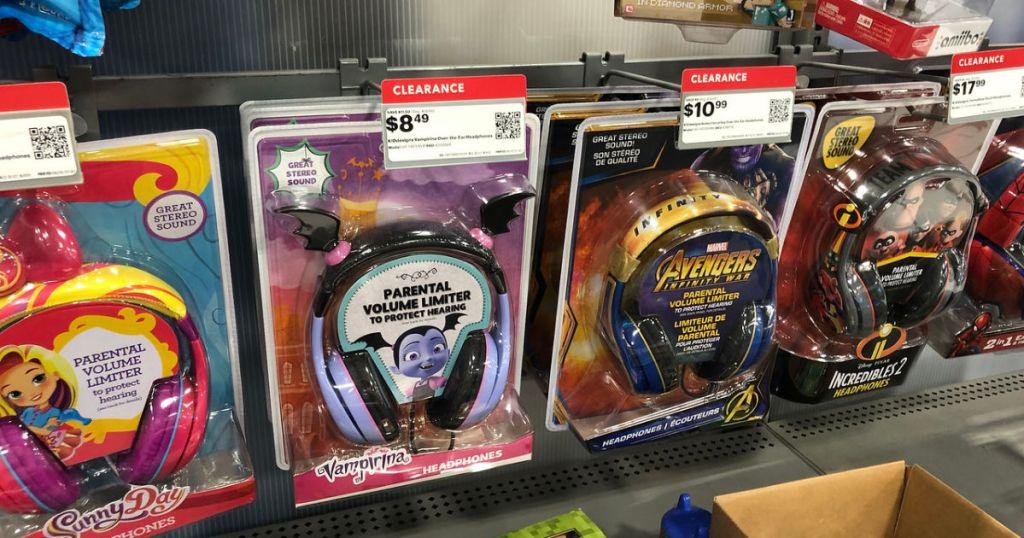 ekids wired headphones on shelf at bestbuy