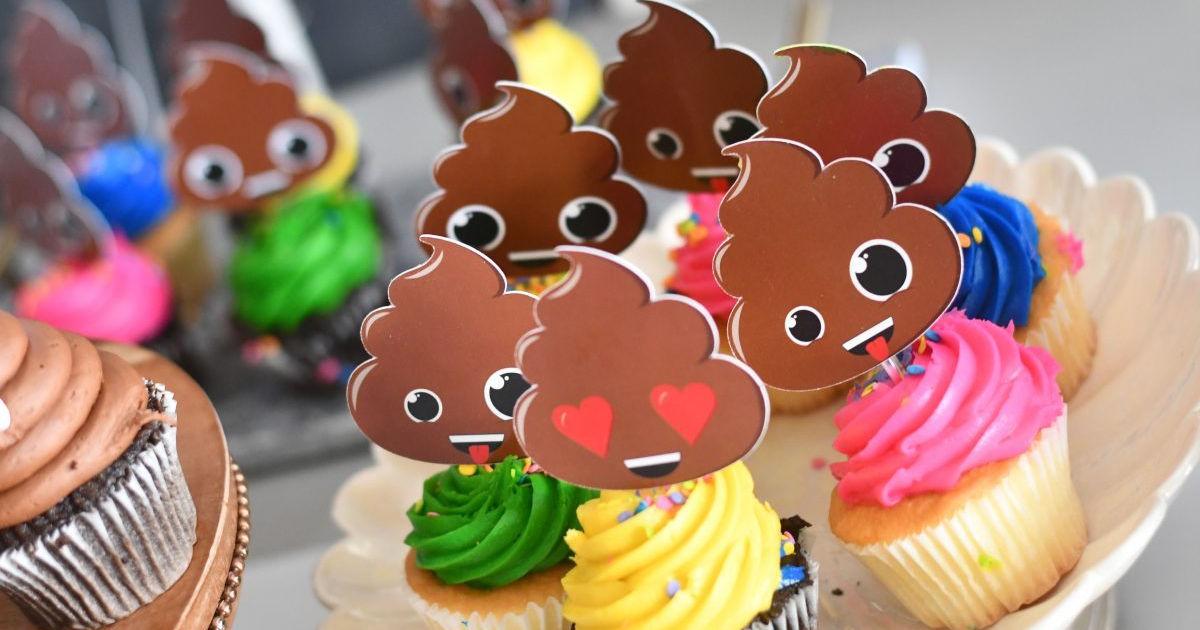 poop emoji cupcake toppers