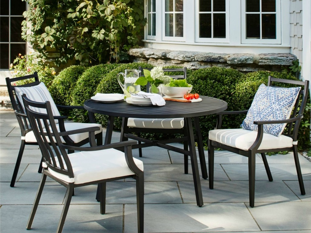 patio table with fairmont chairs