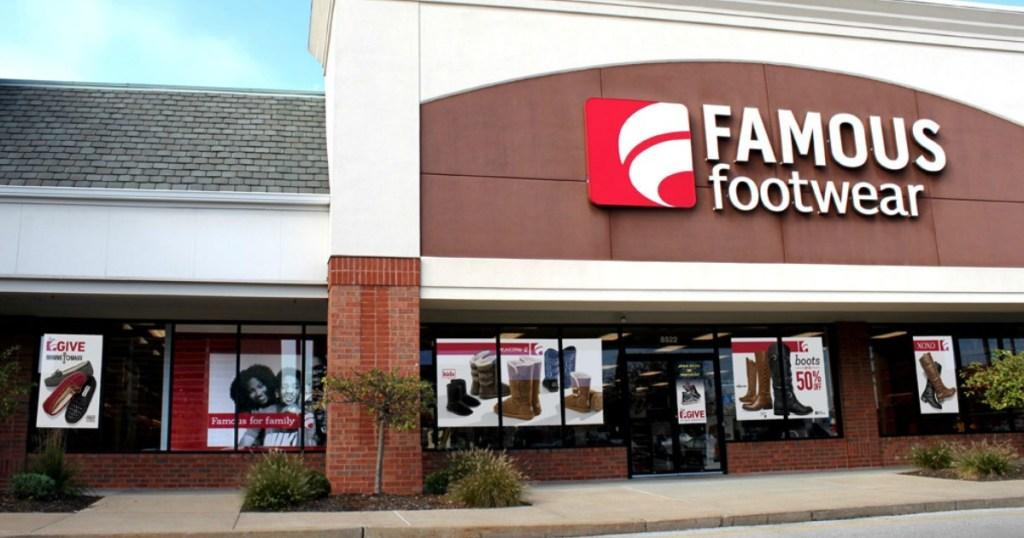 famous foowear storefront