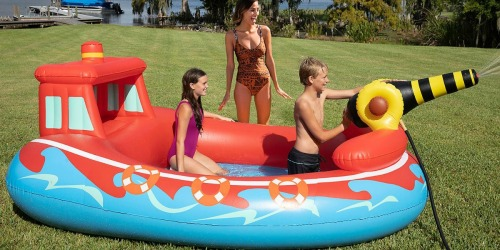 Pirate Ship or Fire Boat Inflatable Pool w/ Sprayer Only $39.81 at Sam's Club (Regularly $50)