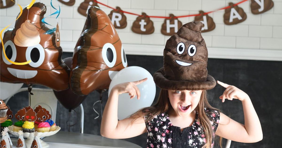 cute and fun poop party hat
