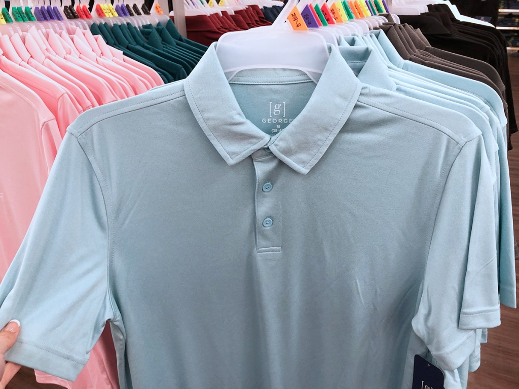 george performance polos at walmart