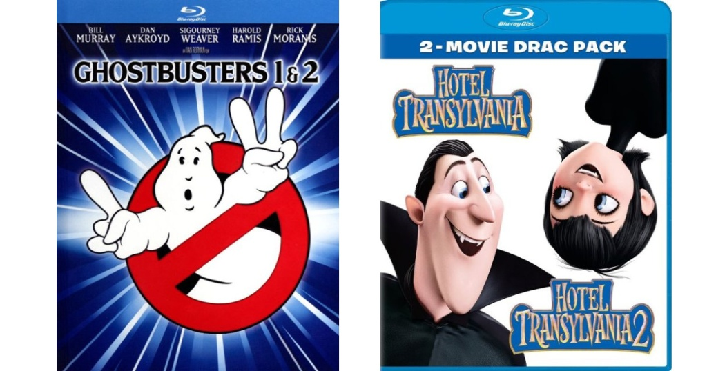 ghostbusters 1 & 2 and Hotel Translyvania