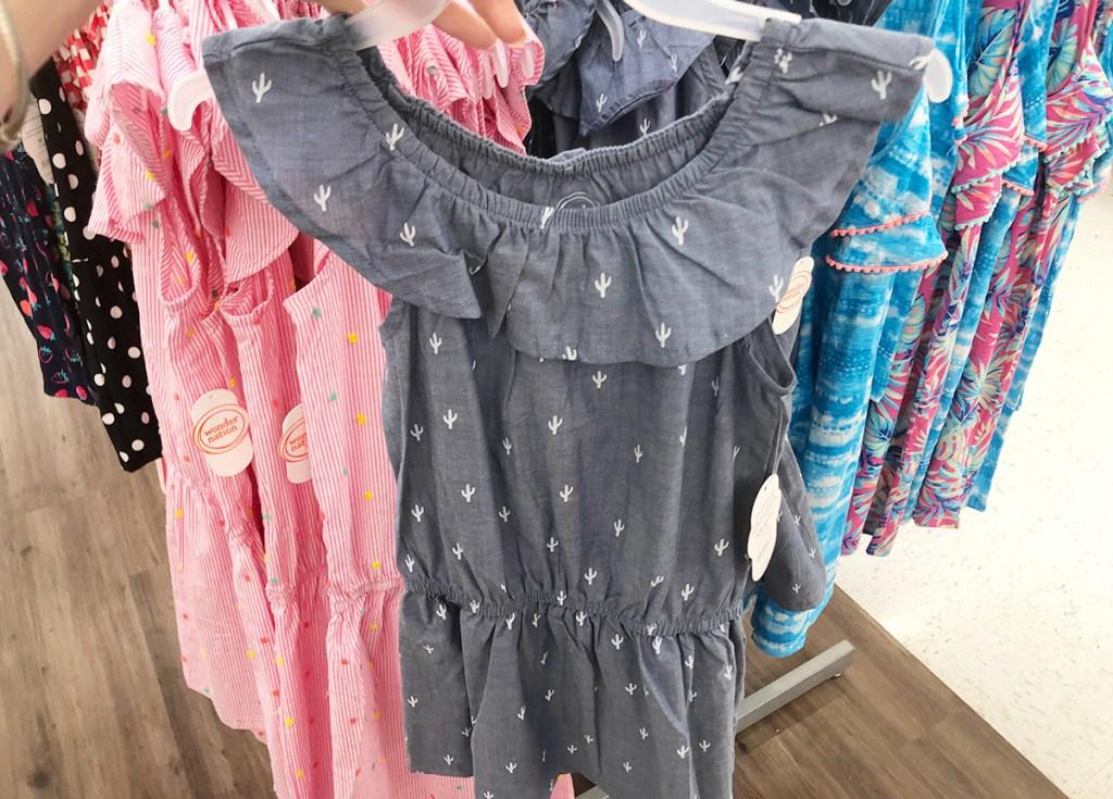 little girls chambray ruffle dress at walmart