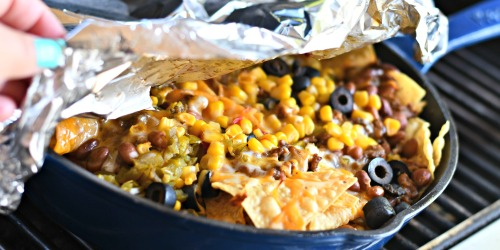 Campfire Skillet Nachos (Grilling and Camping Idea)