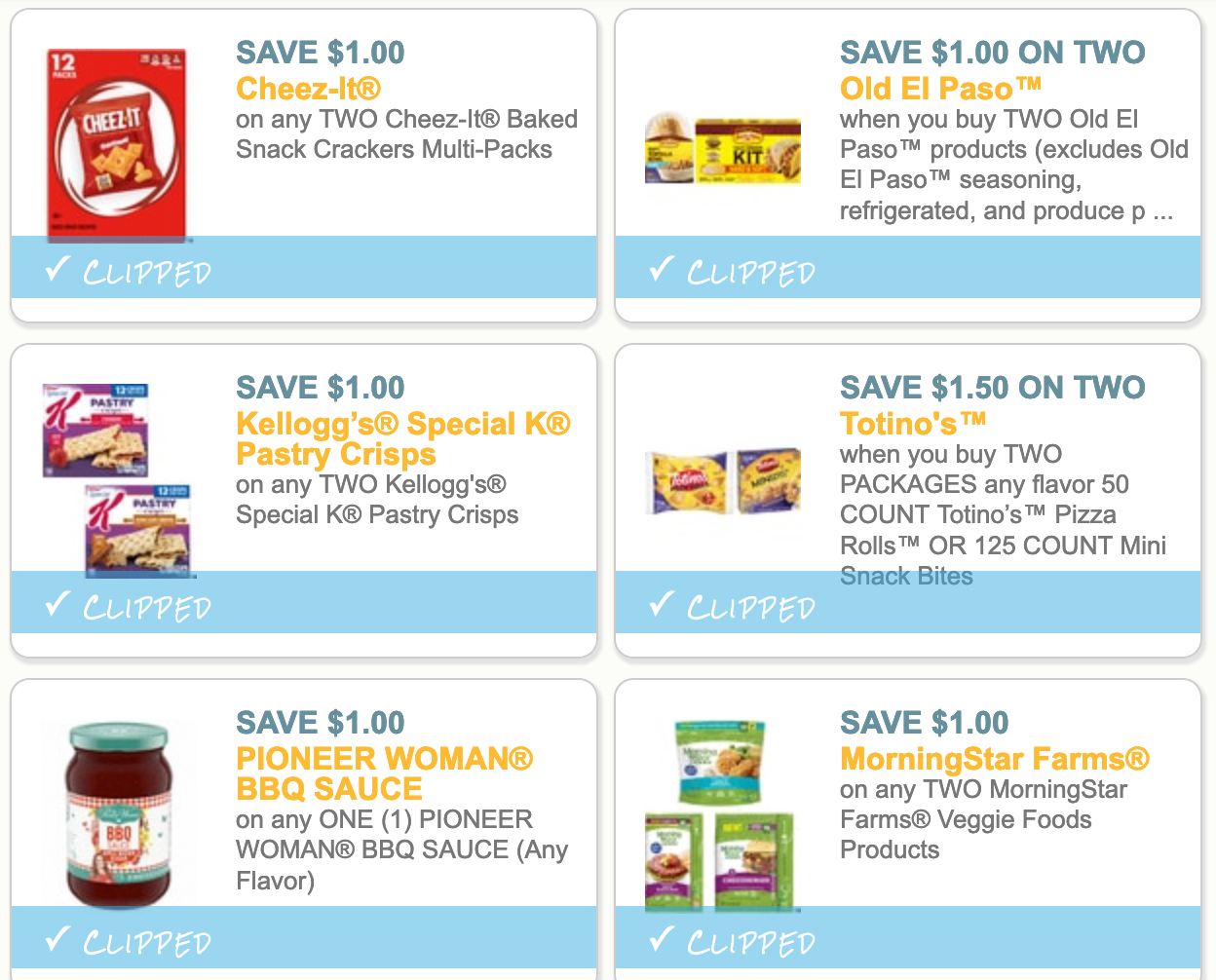 Six Popular Grocery Coupons To Print