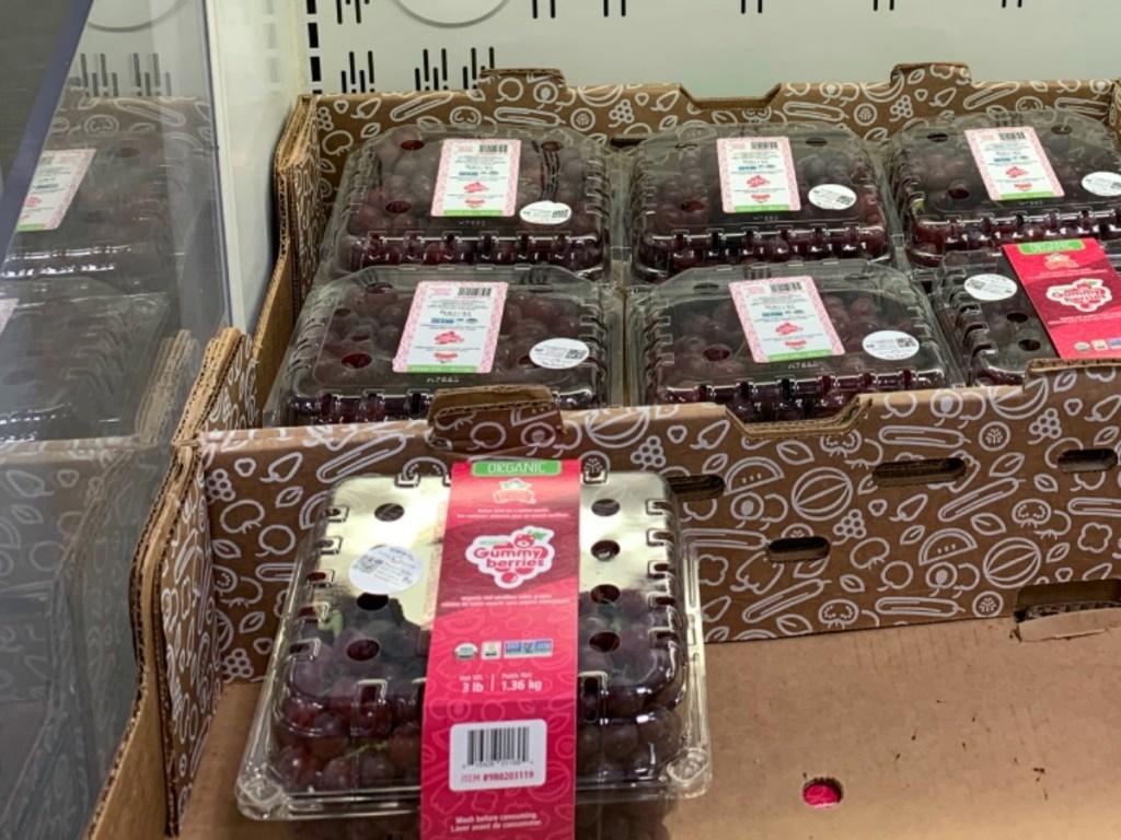 gummy bear grapes on display at sam's club