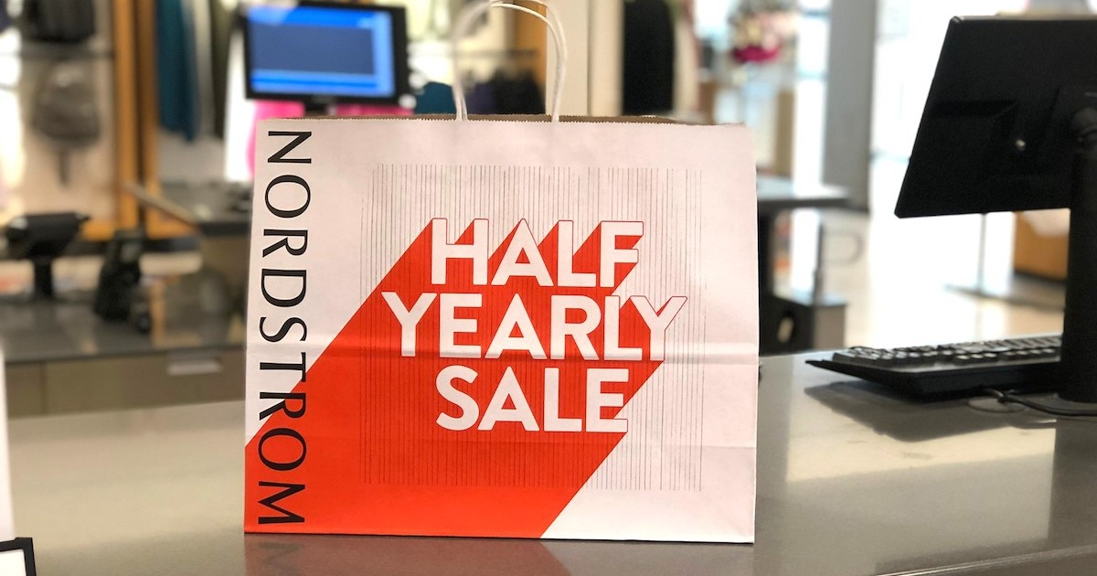 nordstrom anniversary sale shopping bag on counter