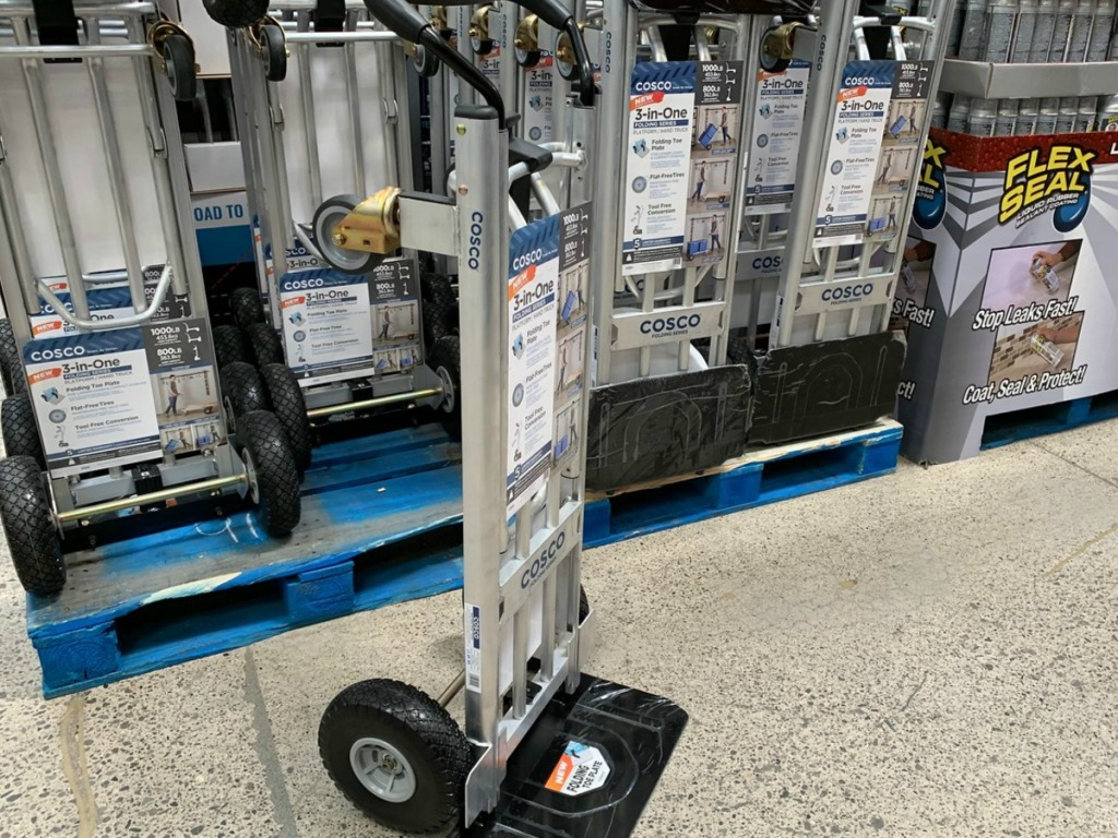 moving dolly with wheels in store